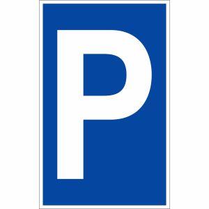 Parkplatzschild P zur Parkplatzkennzeichnung