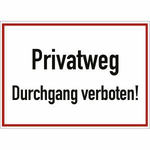 Privatweg Durchgang verboten!