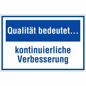 Qualität bedeutet kontinuierliche Verbesserung
