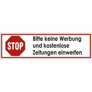 STOP Bitte keine Werbung und kostenlose Zeitungen einwerfen