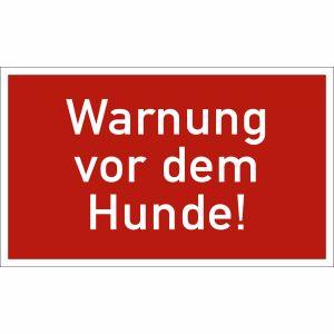 Warnung vor dem Hunde!