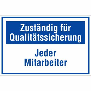 Zuständig für Qualitätssicherung - Jeder Mitarbeiter