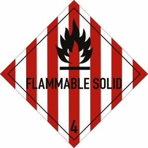 Gefahrgutetiketten Klasse 4.1 - Flammable Solid