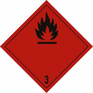Gefahrgutetiketten Klasse 3 - Entzündbare flüssige Stoffe Eindruck: 3