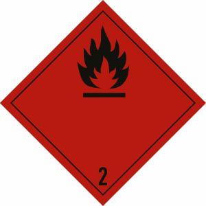 Gefahrgutetiketten Klasse 2 - Entzündbare Gase