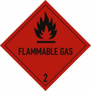 Gefahrgutetiketten Klasse 2, Unterklasse 2.1 - Flammable Gas