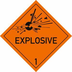 Explosive Stoffe, Aufschrift: EXPLOSIVE