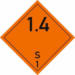 Gefahrgutetiketten Klasse 1, Unterklasse 1.4S