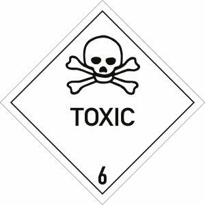 Gefahrgutetiketten Klasse 6.1 - Toxic