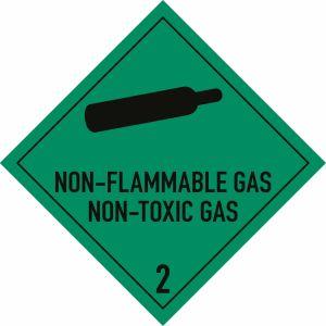 Nicht entzündbare, nicht giftige Gase mit Text: NON-FLAMMABLE GAS/NON-TOXIC GAS 2.2