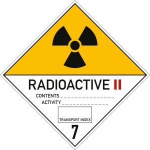 Gefahrgutetiketten Klasse 7 - Radioaktive Stoffe Kategorie II