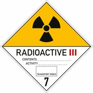 Gefahrgutetiketten Klasse 7 - Radioaktive Stoffe Kategorie III