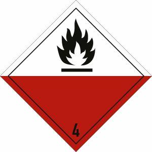 Gefahrgutetiketten Klasse 4.2