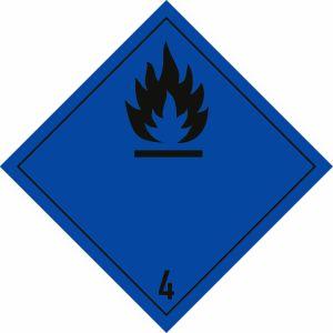 Gefahrgutetiketten Klasse 4.3
