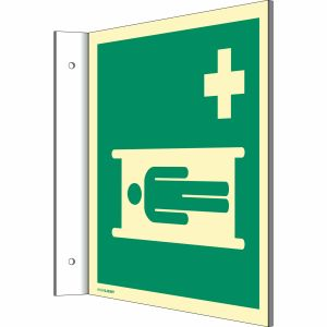 Fahnenschild Krankentrage nach ISO 7010 (E 013)
