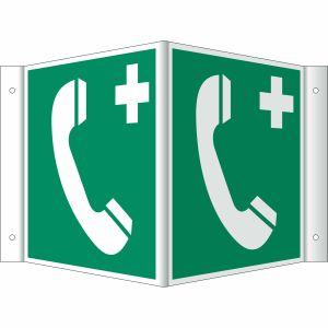Nasen-/Winkelschild Notruftelefon (BGV A8 E 07)