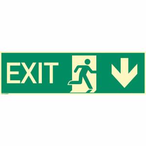 EXIT nach unten/EXIT durch Ausgang nach ISO 16069
