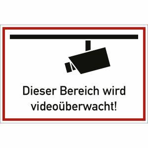 Dieser Bereich wird videoüberwacht!