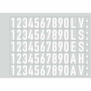 Folienziffern und -buchstaben zur individuellen Beschriftung der Hydrantenschilder (weiß)