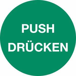 Piktogramm - PUSH/ DRÜCKEN