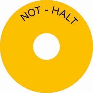 Schild -  NOT-HALT
