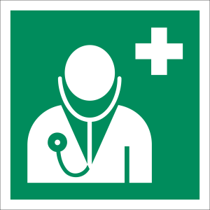 Arzt nach  ISO 7010 (E 009)