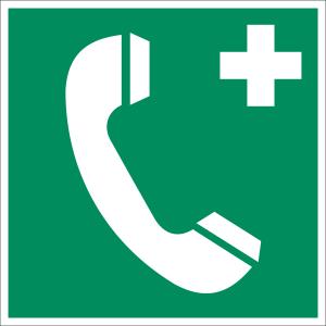 Notruftelefon nach ASR A 1.3, BGV A8, DIN 67510, VBG 125, DIN 4844-2 (BGV A8 E 07)