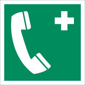 Notruftelefon nach ISO 7010 (E 004)