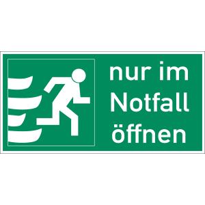 Nur im Notfall öffnen rechts (quer)