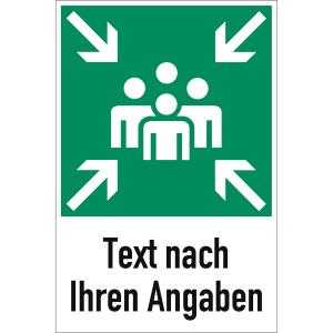 Sammelstelle mit Text nach Ihren Angaben nach BGV A8