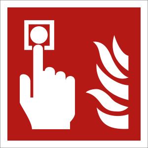 Brandmelder nach ISO 7010 (F 005)