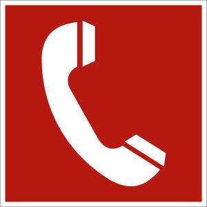 Brandmeldetelefon nach ASR A 1.3 (2007), (BGV A8 F 06)
