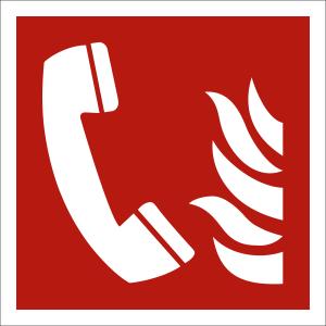 Brandmeldetelefon nach ISO 7010 (F 006)