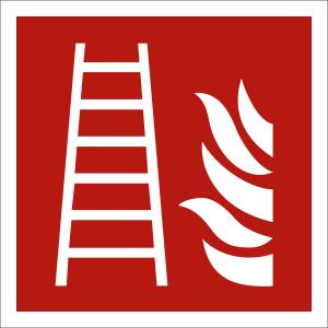 Feuerleiter nach ISO 7010 (F 003)