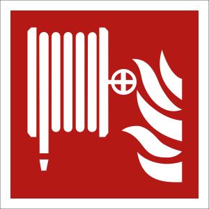 Löschschlauch nach ISO 7010 (F 002)