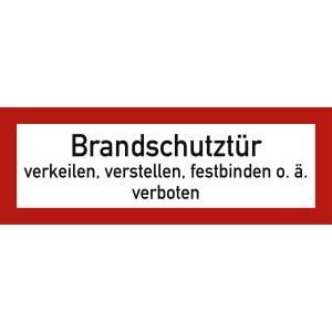 Brandschutztür verkeilen, verstellen, festbinden o.ä. verboten nach DIN 4066