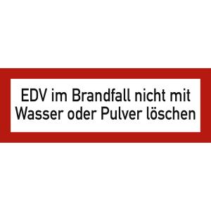 EDV im Brandfall nicht mit Wasser oder Pulver löschen nach DIN 4066