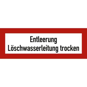 Entleerung Löschwasserleitung trocken nach DIN 4066, DIN 14461-2 und DIN 14462