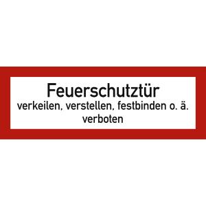 Feuerschutztür verkeilen, verstellen, festbinden o.ä. verboten nach DIN 4066