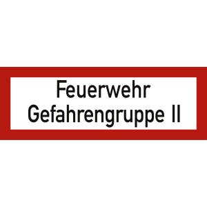 Feuerwehr - Gefahrengruppe II nach DIN 4066