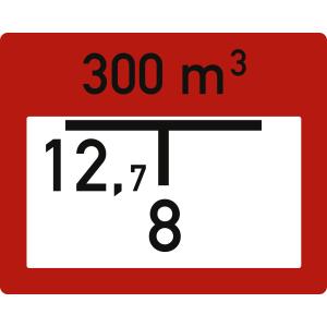 Löschwasserbehälter (B2) zur Brandschutzbeschilderung nach DIN 4066