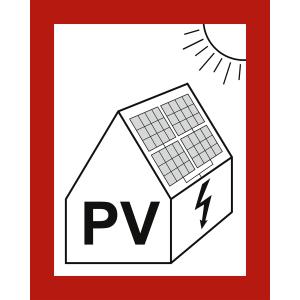 Schild Warnung vor Gefahren durch Photovoltaikanlage (Variante 2)