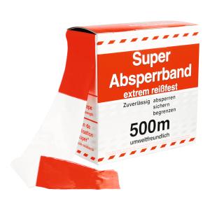 Flatterband / Folienabsperrband rot/weiß