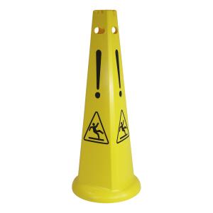 Warnkegel mit Symbol - Warnung vor Rutschgefahr