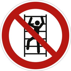 Aufsteigen verboten nach ISO 7010 (P 009)