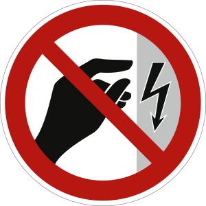 Nicht berühren, Gehäuse unter Spannung (BGV A8 P 09)