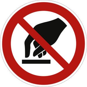 Berühren verboten nach ISO 7010 (P 010)