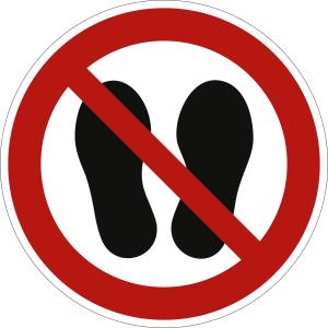 Betreten der Fläche verboten nach ISO 7010 (P 024)