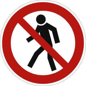 Für Fußgänger verboten (BGV A8 P 03)