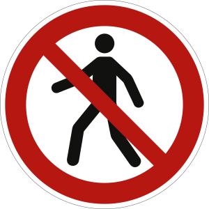 Antirutsch-Fußbodenmarkierung - Für Fußgänger verboten nach ISO 7010